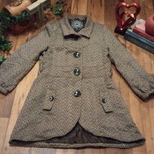 Tweed Pea Coat -